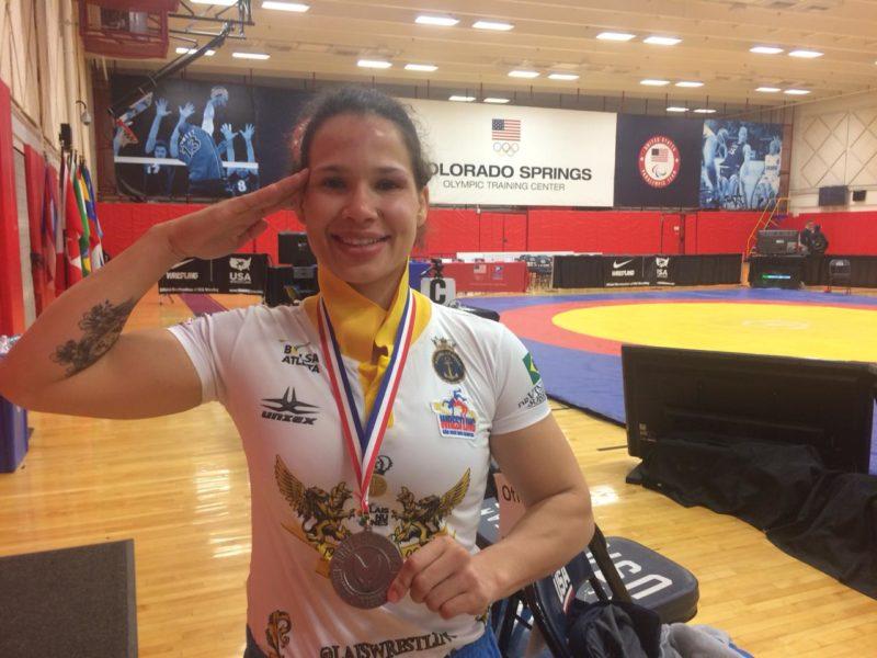 Atleta da Marinha do Brasil, Lais celebra primeira medalha internacional do ano