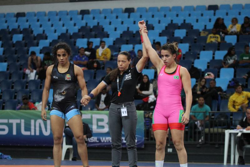 Giullia Penalber ajudou a colocar o Rio de Janeiro em primeiro lugar no wrestling feminino (Caio Baptista/CBW)