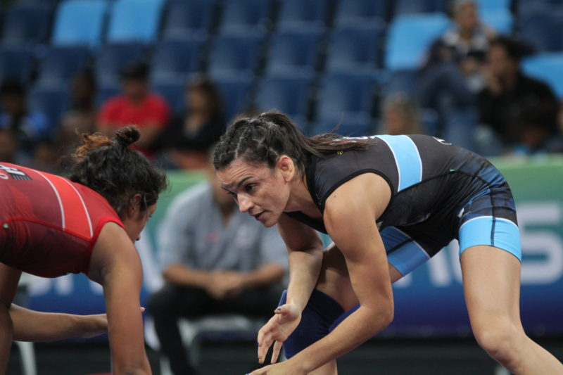 Kamila Barbosa, classificada para os Jogos Pan de Lima, luta nesta sexta (Caio Baptista/CBW)