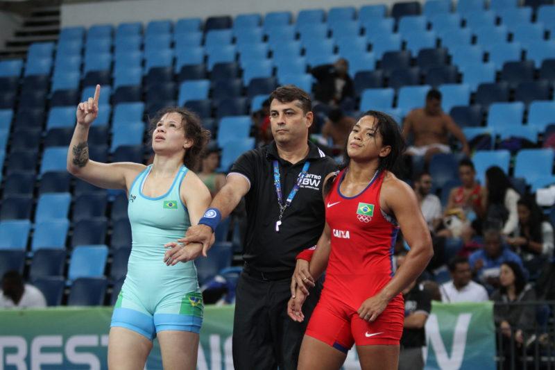 Lais Nunes venceu com autoridade a categoria até 62kg (Caio Baptista/CBW)