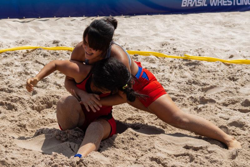 As mulheres vão entrar em ação no 2ª Amazonense de Beach Wrestling (RuivaFight/CVW)
