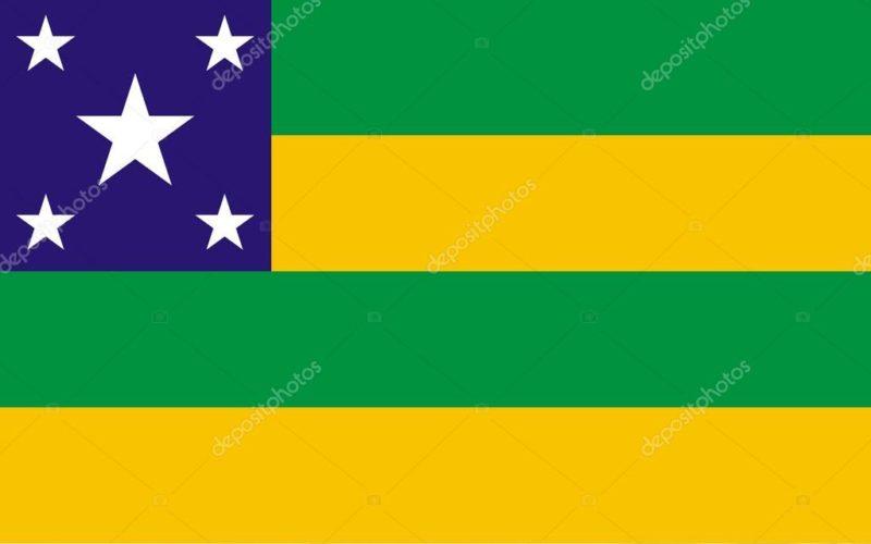 A bandeira de Sergipe, menor estado do Brasil em tamanho e cada vez maior no wrestling (reprodução internet)