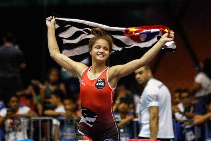 Julia Oliveira de São Paulo conquistou a medalha de ouro nos Jogos Escolares 2019 (Wander Roberto/COB)