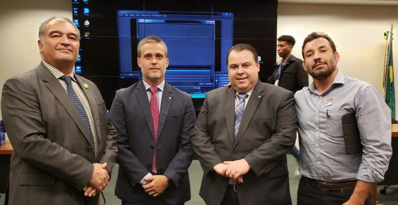 Roberto Leitão, Pedro Gama Filho, Dep. Federal Julio Cesar e José Neto (Arquivo Pessoal/ José Neto)