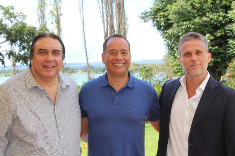 Francisco Lee, Leandro Cruz e Pedro Gama Filho firmaram acordo e fizeram visita técnica para o Pan Júnior 2020