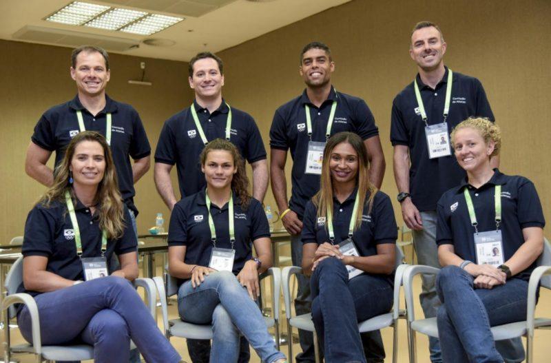 Parte da atual comissão de atletas do COB (Washington Alves/COB)