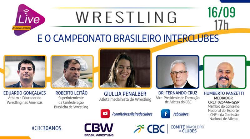 Giullia Penalber, Roberto Leitão e Eduardo Gonçalves participam de live nesta quarta.
