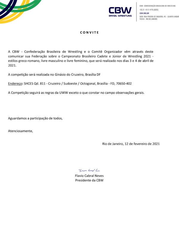 CONVITE CAMPEONATO BRASILEIRO CADETE E JUNIOR 2021 (1)