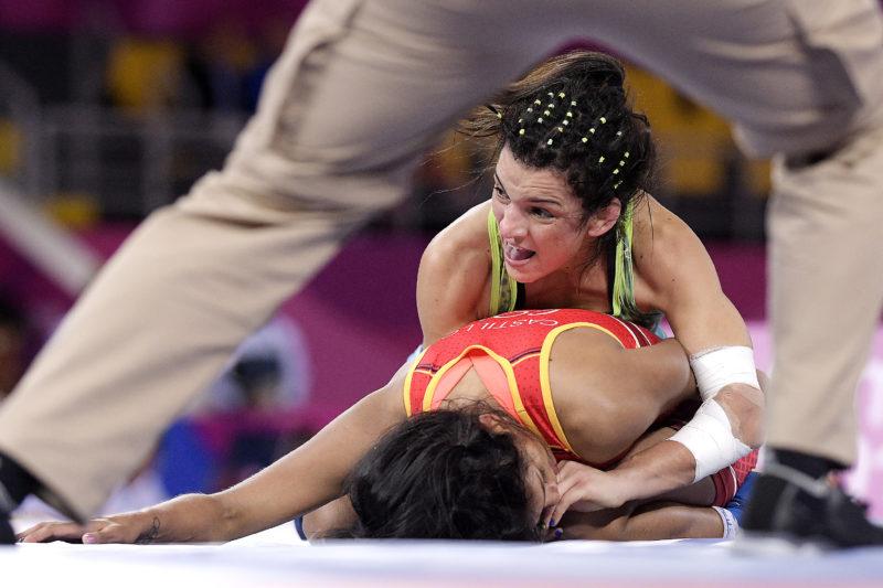 Kamila Barbosa é primeira a entrar em ação. Alexandre Loureiro/COB