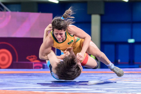 Giullia Penalber levou a medalha de bronze até 57kg (UWW)