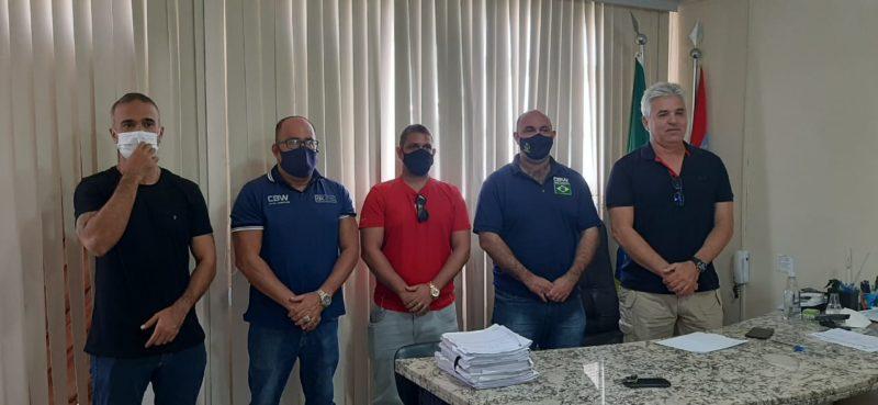 Reunião animadora: Sanclair Medeiros, Carlos Alexandre Sobrinho, Diogo Honorato, Flavio Cabral Neves e  Luis Eduardo