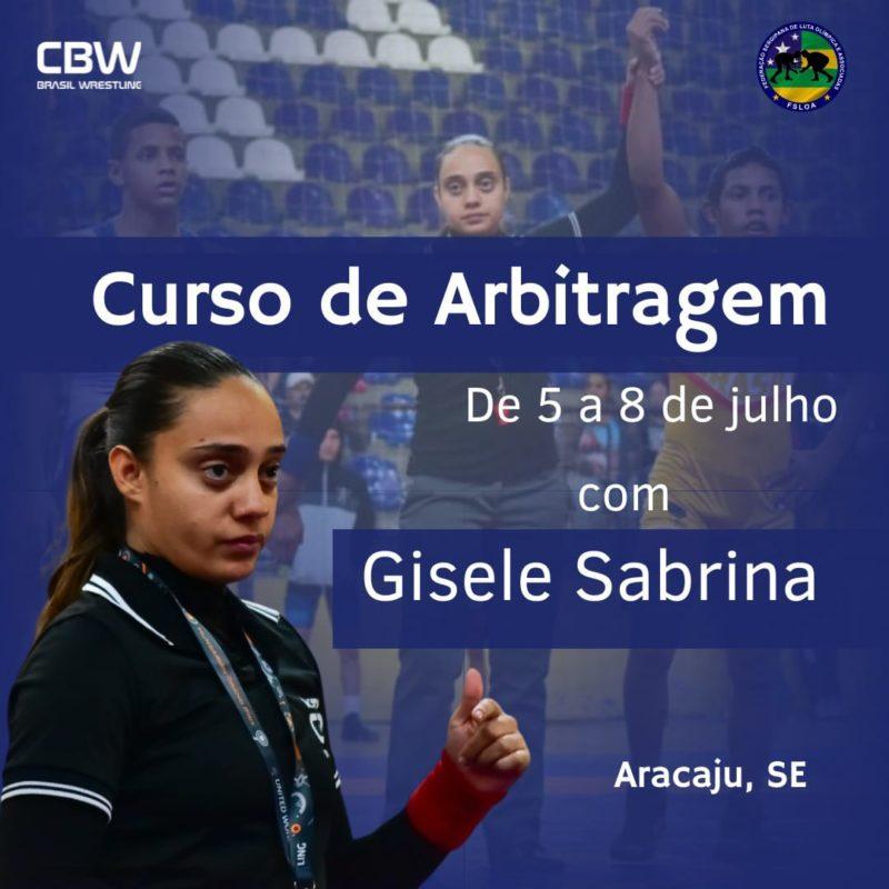 Gisele Sabrina vai comandar curso de arbitragem em Sergipe