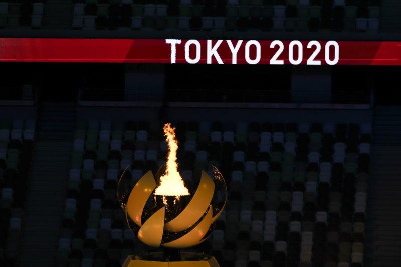 Cerimonia de abertura no estádio olímpico de Tóquio.  Jonne Roriz/COB